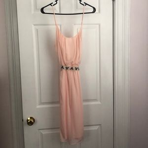 Emebellishes pink dress